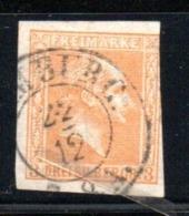 Prusse  / N 8 / 3 S Ocre  /  Oblitéré / Côte 55 € - Preussen