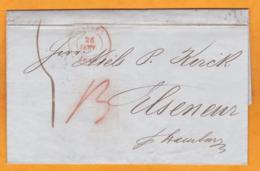 1846 - LAC En Flamand De Antwerpen Anvers, Belgique Vers Elseneur, Helsingor, Danemark Via Hamburg, Allemagne - 1830-1849 (Unabhängiges Belgien)