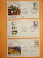 FRANCE 1er JOUR 1961-Série N°1288/91 Héros De La Résistance Sur 6 Enveloppes.  Superbe - 1960-1969