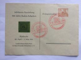 GERMANY 1951 Berlin Cover Jubilaums Ausstellung 100 Jahre Baden Marken + Sonderstempels - [5] Berlin