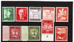 RAD245 DEUTSCHES REICH 1943  MICHL 855/63 ** Postfrisch Siehe ABBILDUNG - Unused Stamps
