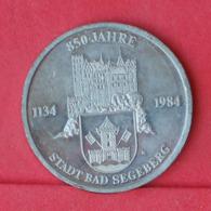 GERMANY    - 850 JAHRE - STADT BAD SELEBERG 7,7 GRS - 30MM DIM      - (Nº30987) - Andere