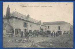 GUEUX     Ferme De Gueux   Départ Aux Champs         Animées   écrite En 1905 - Sonstige Gemeinden