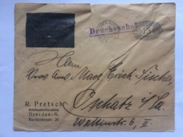 GERMANY 1921 Cover With Dresden Meter Mark - Alemania