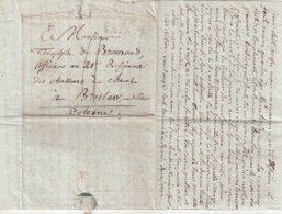"""FRANCE : MARQUE POSTALE . DE """" SAINTES """" . POUR LA GRANDE ARMEE A BRESLAU EN SILESIE . 1807 . - Poststempel (Briefe)"""