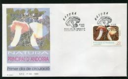SALE  Andorra 1994 Mi 239 Mushroom FDC - Pilze