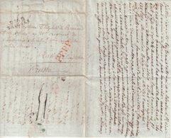 """FRANCE : MARQUE POSTALE . DE """" SAINTES """" . POUR LA GRANDE ARMEE A RATIBOR EN SILESIE . 1808 . TB . - Marcofilie (Brieven)"""