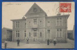 PROUILLY   La Mairie     Animées    écrite En 1910 - Sonstige Gemeinden