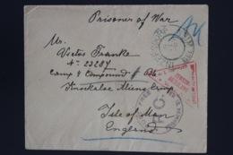 Austria Cover Prisoner Of War  INZEPSDORF -> Isle Of Man UK - 1850-1918 Imperium