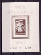 TP - TURQUIE BLOC FEUILLET  - XX - 1945 - MNH** - Otros