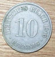 N°17 MONNAIE ALLEMANDE 10 PFENNIG 1910A - 10 Pfennig