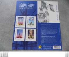 Collector Neuf France 2019 : 130 Ans De La Tour Eiffel (4 Timbres Autocollants France Lettre Verte) - Collectors