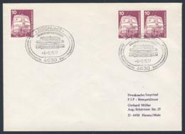 Deutschland Germany 1977 Brief Cover - Eisenbahnmuseum Bochum / Railway Museum - Treinen