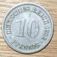 N°23 MONNAIE ALLEMANDE 10 PFENNIG 1912F - 10 Pfennig