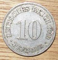 N°24 MONNAIE ALLEMANDE 10 PFENNIG 1913D - 10 Pfennig