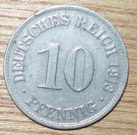N°25 MONNAIE ALLEMANDE 10 PFENNIG 1913D - 10 Pfennig