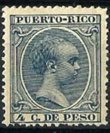 Puerto Rico Nº 109 Con Charnela - Puerto Rico