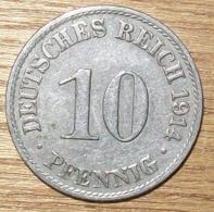 N°26 MONNAIE ALLEMANDE 10 PFENNIG 1914A - 10 Pfennig
