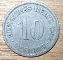 N°28 MONNAIE ALLEMANDE 10 PFENNIG 1898A - 10 Pfennig