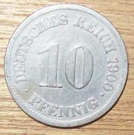 N°29 MONNAIE ALLEMANDE 10 PFENNIG 1900A - 10 Pfennig