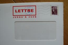 PAP TSC APAVE Marianne De Beaujard 250g Brun Oblitéré Du 12/10/2011 - Agrément 11M033 - Postal Stamped Stationery