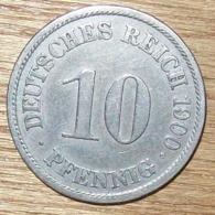 N°31 MONNAIE ALLEMANDE 10 PFENNIG 1900A - 10 Pfennig