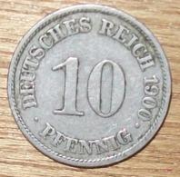 N°32 MONNAIE ALLEMANDE 10 PFENNIG 1900A - 10 Pfennig