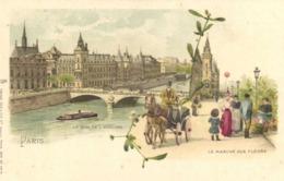 Illustrateur PARIS Le Quai De L'Horloge Le Marché Aux Fleurs   Raphael TUCK & Fils RV - Paintings