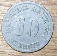 N°33 MONNAIE ALLEMANDE 10 PFENNIG 1900A - 10 Pfennig