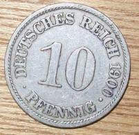 N°34 MONNAIE ALLEMANDE 10 PFENNIG 1900A - 10 Pfennig