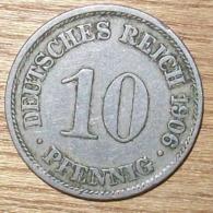 N°35 MONNAIE ALLEMANDE 10 PFENNIG 1906A - 10 Pfennig