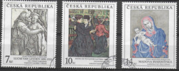 REPUBBLICA CECA -  1994 - QUADRI GALLERIA NAZIONALE A PRAGA -  3 VAL. USATI ( YVERT 56/58 - MICHEL 56/58) - Tschechische Republik