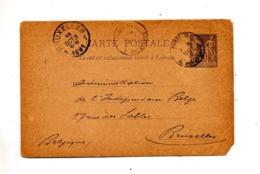 Carte Postale 10 C Sage Cachet Paris + Bruxelles - Ganzsachen