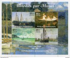 Madagascar MNH 1999 Bateaux Par Claude Monet - Madagascar (1960-...)