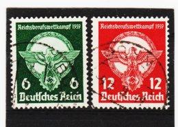 RAD207 DEUTSCHES REICH 1939  MICHL 689/90 Gestempelt Siehe ABBILDUNG - Gebraucht