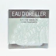 échantillons De Parfum  POCHETTE  EAU D'OREILLER  EDT   De  FRAGONARD  EDP   2 Ml - Echantillons (tubes Sur Carte)