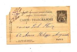 Carte Telegramme Cachet Paris - Pneumatische Post