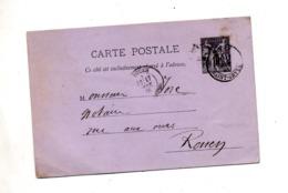 Carte Postale 10 C Sage Cachet Rouen - Postwaardestukken