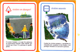 2 Carte De Jeu/ Saumon, Truite, Barrage, Rivière, Ecologie, Garde-pêche - Unclassified