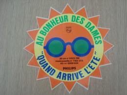 AUTOCOLLANT PHILIPS AU BONHEUR DES DAMES QUAND ARRIVE L'ETE - Stickers