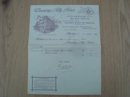FACTURE WAANING TILLY FRERES HUILE DE HARLEM  HARLEM PAYS-BAS 1920 - Pays-Bas