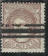 SPAIN ESPAÑA SPAGNA 1870 DUKE DE LA TORRE REGENCY 200m USED USATO OBLITERE' - 1870-72 Reggenza