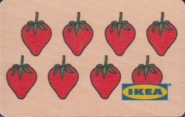 GERMANY Gift-card  IKEA - Strawberry - Wood-card - Gift Cards