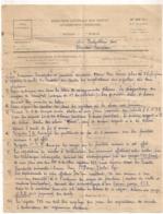 1953  NOTE DES CONTRIBUTIONS INDIRECTES CONTROLE RURAL A BURALISTES EVRON MAYENNE CIDRE ALCOOL DISTILLATION B782 - Documents Historiques