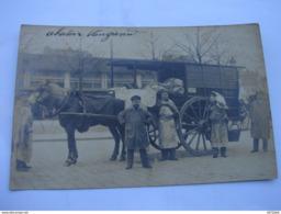 C.P.A. Carte Photo - Paris (75) - Abattoirs Vaugirard - Approvisionnement En Boucherie -  1905 - SUP (A86) - Petits Métiers à Paris