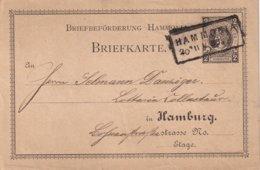 ALLEMAGNE 1886   ENTIER POSTAL/GANZSACHE/POSTAL STATIONERY  CARTE POSTE PRIVEE DE HAMBURG - Private