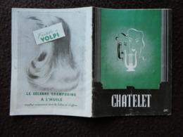 MZ Programme Théatre Du CHATELET Les Chasseurs D'images Opérette Mouezy-Eon Manse Avec Fernandel - Programmes