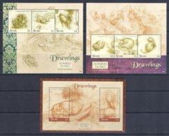 Tuvalu (2019) Leonardo Da Vinci (500th Anniversary Of Death) - Set Of 3 Minisheets (MNH) - Celebrità