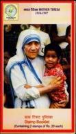 MOTHER TERESA-NOBEL LAUREATE-BILASPUR- STAMPS BOOKLET--CHHATISGARH CIRCLE-SCARCE-MNH-BL-38 - Mutter Teresa