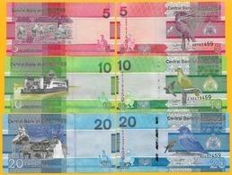 Gambia Set 5, 10, 20 Dalasis P-new 2019 UNC Banknotes - Gambia